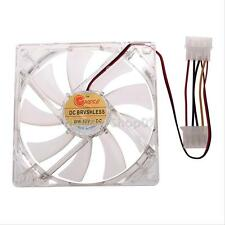 120mm 12cm PC Computer Clear Case CPU Cooling Fan 4Pin Heatsink Blue LED Light