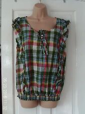 GREEN SLEEVELESS BLOUSE BY DOROTHY PERKINS SIZE 14