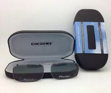 COCOONS Grey Polarized Sunglasses/Eyeglasses Over Rx Clip-on REC 15-48 Gunmetal