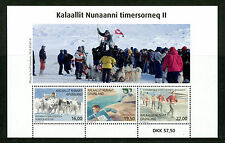 Greenland 2017 MNH Sports II Dogsled Sled Dogs Kang-Nu Race Relay 3v M/S Stamps