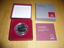 Niob Tunnelbau 25 Euro 2012 Zertifikat OVP Österreich Silber Niobium Silver