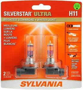 SYLVANIA H11 SilverStar Ultra High Performance Halogen Headlight 2 Bulbs