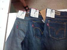 Jeans Pantalone LEVI'S  Donna Denim Vita Bassa 570 e 571 Slim  colori come foto