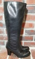 "Børn 'Brie' Black Leather 3"" Heel Knee High Boots - Women's Size 7.5"