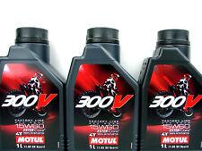 3x 1 Litro MOTUL 300v 15w-60 ACEITE PARA MOTOS 15w60 DE 4 tiempos OFF ROAD Ester