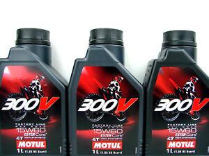 Motoröl 15W60 3Liter Motul 300V 4Takt Motorradöl Off Road ESTER Core