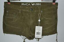 RVCA VA, Balance of Opposites, Shorts, Narcissa, Cut Off Cords, Green, Size 30