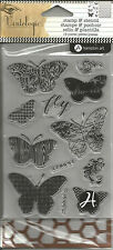 Hampton Art Vintologic Butterflies Stamp & Stencil Set SC0647 #1485
