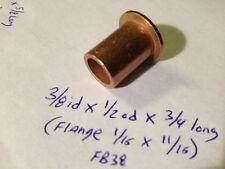 Oilite Flange Bushing Bronze 3/8 id x 1/2 x 3/4 brass bush Shim Spacer Bearing