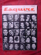 ESQUIRE January 1964 Jan 64 CECIL B DE MILLE AGNES DEMILLE +++