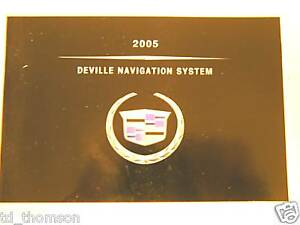 GM 2005 Cadillac DeVille Navigation Manual #25769281A