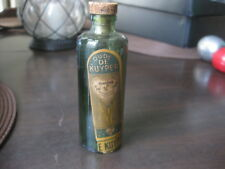 vintage antique Oude de kuyper schiedam empty liquor Glass bottle with cork