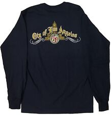 City Of Los Angeles Long Sleeve T Shirt Color Navy Blue Medium