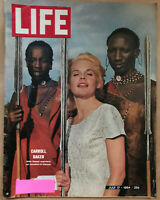 LIFE Magazine July 17, 1964 Carroll Baker with Masai Warriors in Kenya