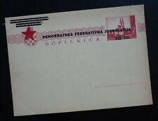 Croatia c1945 Yugoslavia Slovenia Unused Ovp. Postal Stationery - Rare ! C3