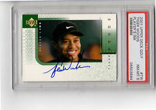 RARE 2001 Upper Deck TIGER WOODS Rookie, AUTO Player's INK PSA Golf Autograph TW