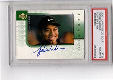 RARE 2001 Upper Deck TIGER WOODS Rookie, AUTO Player's INK PSA Golf Autograph TW