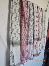 5 Pcs Wholesale Lot Women Wear Scarf Pure Cotton Hand Block Print Sarongs Stoles