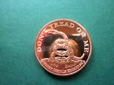 Don't Tread On Me - Rear Has Tour Torch. - 1oz Copper Round-
