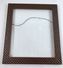 Pair Cross Hatch Wood Picture Frames