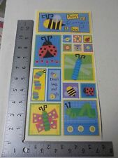 PEBBLES INC. FUNKY BUGS SAMPLER BUSY BEE LADYBUG STICKERS SCRAPBOOKING A2408