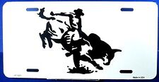 Novelty license plate Silhouette bull rider New aluminum auto tag Car LP-1231