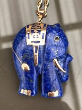 Blue Lapis elephant pendant