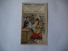CHROMO PUBLICITAIRE CHOCOLAT GUERIN-BOUTRON N°188 GRAPHOLOGIE