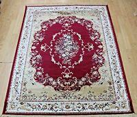 New Red Silk Like Traditional Oriental Design Rug Runner Washable carpet