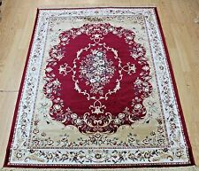 RED Traditional Persian Oriental Design RUG SILK LIKE Machine Washable RUG 20%--
