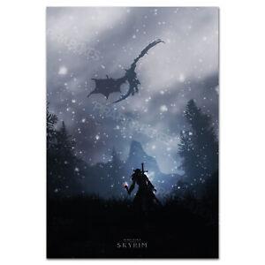 The Elder Scrolls V: Skyrim Poster - Dragon Born Exclusive Art - High Quality