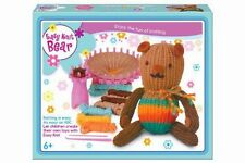 Enfant facile à tricoter marron teddy réutilisable starter kit ~ grand cadeau