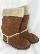 GUESS Women's Tan Faux Fur Lined Winter Boot Size 8 Narrow