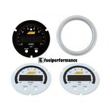 AEM X-Series Pressure Gauge Accessory Kit - Silver Bezel. Black Fuel Faceplate