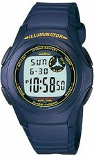 Casio F200W-2B Mens Blue Resin Digital LCD Sports Watch w/ Illuminator NEW
