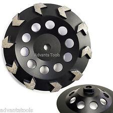 "7"" Arrow Segment Diamond Grinding Cup Wheel for Concrete - 5/8""-11 Threads"