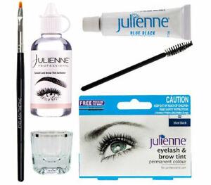 Julienne Eyelash Eyebrow Tinting Kit Dye Brush Tint Dish Oxidant Permanent Dye😳
