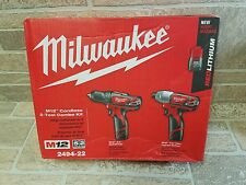Milwaukee 2494-22 M12 REDLITHIUM 2 Tool Combo Kit - NEW BK