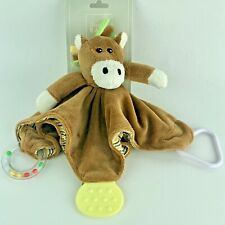"""Stephan Baby Chewbie Sparky Horse Ring Rattle Teether 10"""" Blankie New with Tag"""