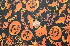 """""""HALLOWEEN FUN"""" HOUSES COTTON 100% QUILT FABRIC BY THE YARD FOR CHOICE FABRICS"""