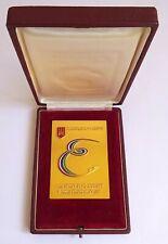 1958 ISU European FIGURE SKATING Championships PARTICIPANT plaque MEDAL