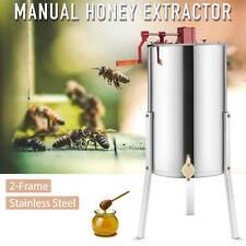 "2/4 Frame Manual Honey Bee Honey Extractor Ss Beekeeping Adjustable Stand 24"""