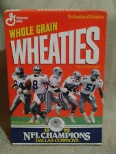 Wheaties Dallas Cowboys 1992 Super Bowl XXVII Champions Cereal Box Never Opened