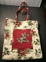 Longaberger Christmas Holiday Gift Lunch Tote Bag Holiday Botanical New!