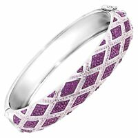 Crystaluxe Harlequin Bangle Bracelet with Swarovski Crystals in Sterling Silver