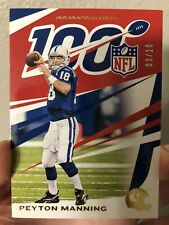 Peyton Manning SSP /10 Gold 2019 Chronicles 100 Years Colts