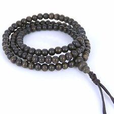 Bracelet/Necklace Vietnam Agarwood Mala Buddhism 108 Meditation 5mm Beads 土沉香