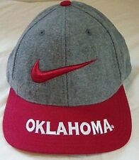 e7176ce2c005 Vintage Nike Team Sports OU Oklahoma University Wool Blend Snapback Hat FS!