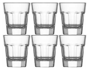 6x Shot Glasses. ( 45 cc / ml ). Vodka Liquor Tequila Shooter.