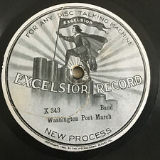 Excelsior TALKING MACHINE VICTROLA  78 rpm Record Very Early Disc Lovely Label